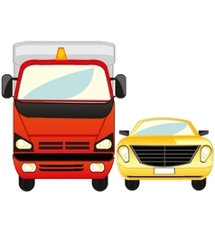 Cargo and passenger car vector image
