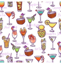 Cocktail seamless pattern vector