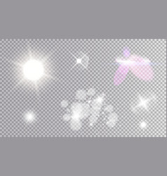 Cosmic white light effects set vector