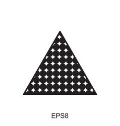Dots triangle icon vector image