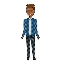 elegant black businessman avatar character vector image vector image