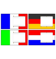 flags and banners vector image vector image