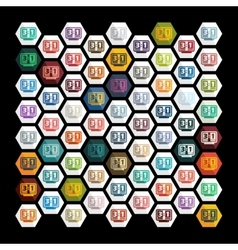Flat design score board vector image