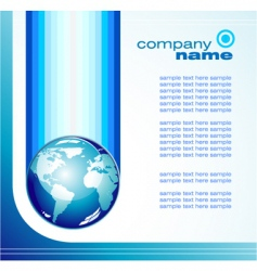 Global business card vector
