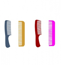 hairbrushes vector image vector image