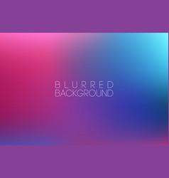 horizontal wide blue pink blurred background vector image