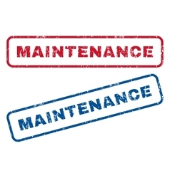 Maintenance rubber stamps vector