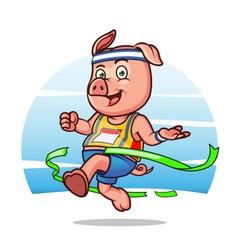Marathon Pig vector image vector image