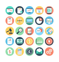 Market and economics colored icons 1 vector