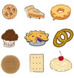 Pastry collection vector image vector image