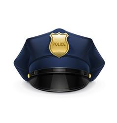 Police cap vector