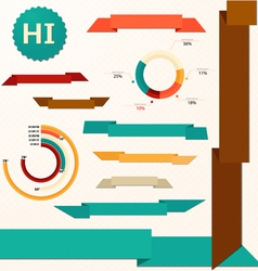 Ribbons and pie style graph vector