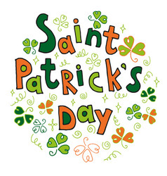 saint patrick s day greeting card vector image vector image