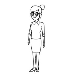 school teacher cartoon vector image