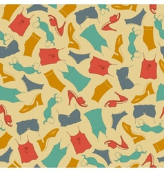 Seamless pattern clothes woman vector