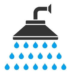 Shower Flat Icon vector image