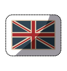 Sticker flag united kingdom classic british opaque vector