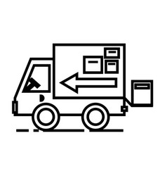 truck delivery shipping line icon sign vector image