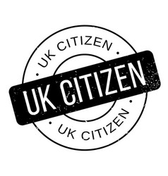 Uk citizen rubber stamp vector