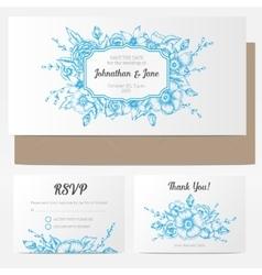 vintage floral wedding invitation vector image