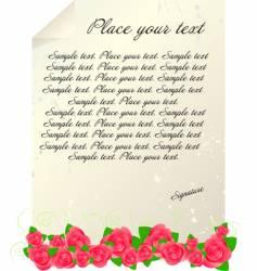 vintage letter template vector image