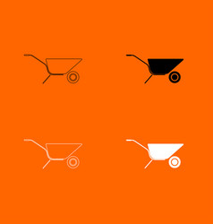 Wheelbarrow cart icon vector