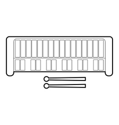 Xylophone icon outline style vector