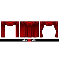 Three theater curtain vector