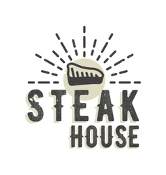 Creative logo design with steak vector image