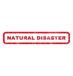 Natural disaster rubber stamp vector