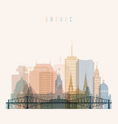 Quebec skyline detailed silhouette vector