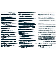 Ink brush strokes set of paint spots hand made vector