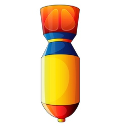 A colorful bomb vector