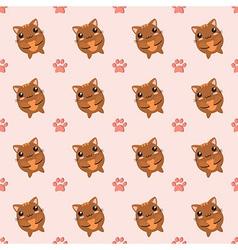 Kitten seamless background vector image
