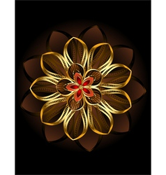 Abstract brown flower vector