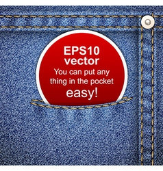 Denim background with tag vector