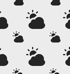 Weather icon sign seamless pattern with geometric vector