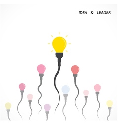 Creative light bulb idea and leader concept vector