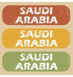 Vintage saudi arabia stamp set vector