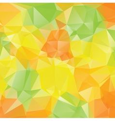 Green Yellow Orange Polygons3 vector image