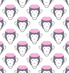 Monkey brains seamless background pattern of vector