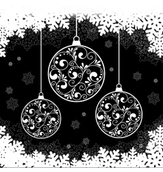 Snowflake black background vector