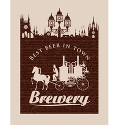 Vintage banner for the brewery vector