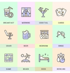 Set of icons in flat style vector