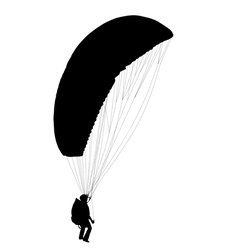 Paraglider before take off vector