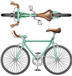 A green bike vector image