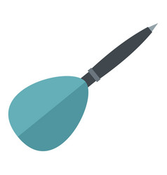 Blue dart arrow icon isolated vector