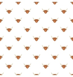 Bull head pattern cartoon style vector