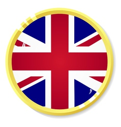 button with flag United Kingdom vector image vector image