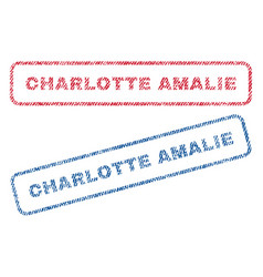 Charlotte amalie textile stamps vector